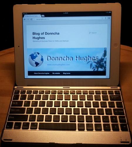 My iPad with Wireless keyboard
