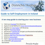 Guide to self employment in Ireland by Donncha Hughes