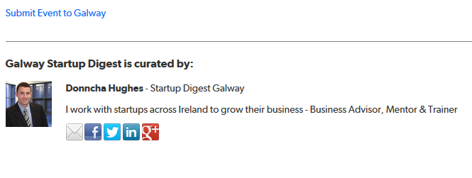 Startup Digest Galway Curator Donncha Hughes