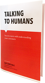 Bookcover Talking to humans