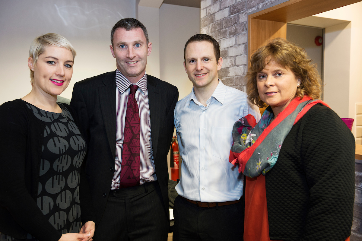 Kerry Quinlan, WestBIC; Mark Quick, 9th Impact; and Margaret Charleton, Enterprise Ireland