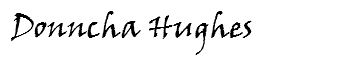 Signature of Donncha Hughes