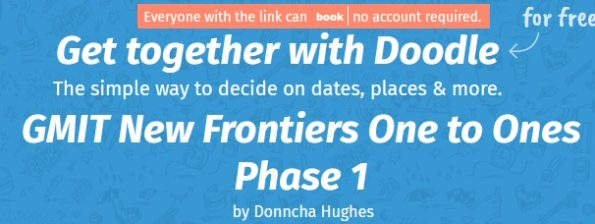 Doodle Banner New frontiers 1 to 1s with Donncha Hughes