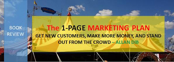 1 PAGE Marketing Plan by Allan Dib Blogpost Book Review
