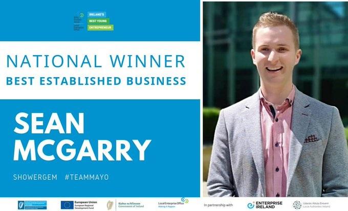 Sean McGarry IBYE ShowerGem National Winner Best Established Business