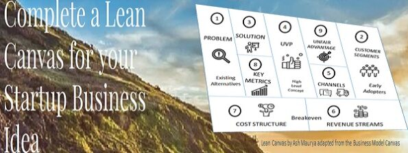 Complete a Lean Canvas for your Startup Business Idea with Donncha Hughes